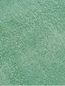 Plaid in morbido pile color menta Doudou, 100% poliestere, Menta, Larg. 130 x Lung. 160 cm
