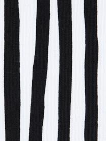 Federa arredo a righe Corey, 100% cotone, Nero, bianco, Larg. 40 x Lung. 40 cm