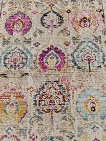 Chodnik z niskim stosem Kashan Vintage, Beżowy, wielobarwny, S 70 x D 232 cm
