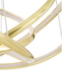 LED-Pendelleuchte Saturn in Gold, Lampenschirm: Aluminium, pulverbeschich, Baldachin: Stahl, vermessingt, Gold, Ø 72 x H 75 cm