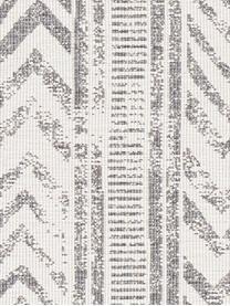 Gemusterter In- & Outdoor-Wendeteppich Biri in Grau/Creme, 100% Polypropylen, Grau, Creme, B 80 x L 150 cm (Größe XS)