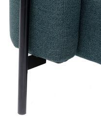 Letto imbottito in tessuto verde Tivoli, Rivestimento: 100% poliestere, Piedini: acciaio verniciato a polv, Tessuto verde, 160 x 200 cm
