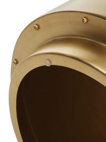 Bijzettafel Step van messing, Geborsteld metaal, Messingkleurig, Ø 50 x H 46 cm