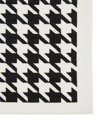 Set 3 panni assorbenti compostabili Tokyo, 70% cellulosa, 30% cotone, Bianco, nero, Larg. 17 x Lung. 20 cm