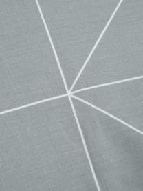 Dwustronna pościel z bawełny renforcé Marla, Szary, biały, 135 x 200 cm