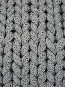 Handgemachte Grobstrick-Kissenhülle Adyna in Hellgrau, 100% Polyacryl, Hellgrau, 45 x 45 cm