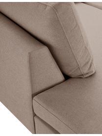 Ecksofa Luna in Braun mit Metall-Füßen, Bezug: 100% Polyester Der hochwe, Gestell: Massives Buchenholz, Füße: Metall, galvanisiert, Webstoff Braun, B 280 x T 184 cm