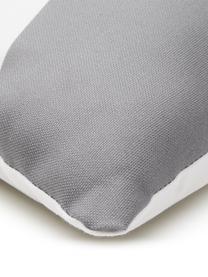 Federa arredo con forme geometriche Linn, Tessuto: Panama, Bianco, blu scuro, grigio, arancione, Larg. 40 x Lung. 40 cm