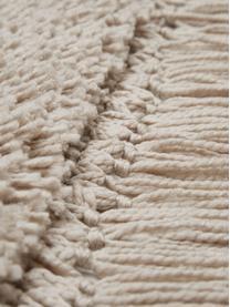 Alfombra de pelo largo con flecos Dreamy, Parte superior: 100%poliéster, Reverso: 100%algodón, Crema, An 300 x L 400 cm (Tamaño XL)