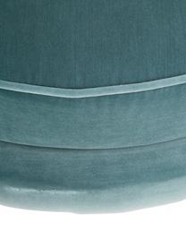 Samt-Cocktailsessel Trapezium in Türkis, Bezug: 95% Polyester, 5% Baumwol, Füße: Metall, beschichtet, Samt Türkis, B 97 x T 79 cm