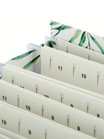 Organizer na dokumenty Johan, 9 elem., Biały, zielony, S 19 x W 27 cm