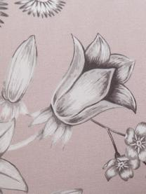 Parure copripiumino in cotone Field, Cotone, Fronte: rosa cipria, grigio, bianco Retro: bianco, 200 x 200 cm + 2 federe 50 x 80 cm