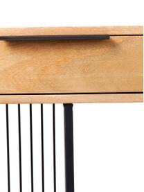 Regał z drewna i metalu Modena, Stelaż: metal malowany proszkowo, Czarny, S 125 x W 200 cm