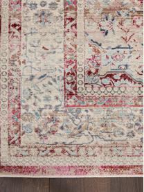 Teppich Vintage Kashan mit Vintagemuster, Flor: 100% Polypropylen, Beige, Rot, Blau, B 160 x L 240 cm (Größe M)