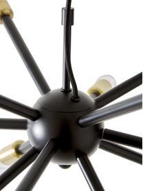 Pendelleuchte Spike in Schwarz-Gold, Lampenschirm: Metall, pulverbeschichtet, Baldachin: Metall, beschichtet, Schwarz, Goldfarben, Ø 50 cm