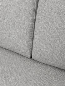 Ottomane Fluente, Bezug: 80% Polyester, 20% Ramie , Gestell: Massives Kiefernholz, Füße: Metall, pulverbeschichtet, Webstoff Hellgrau, B 202 x T 85 cm