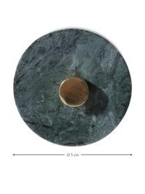 Marmor-Wandhaken Jona, Front: Marmor, Grün, marmoriert, Messing, Ø 5 x T 8 cm
