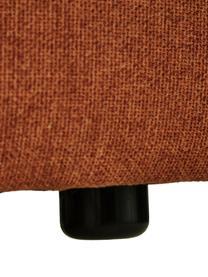 Sessel Lennon in Terrakotta, Bezug: 100% Polyester Der hochwe, Gestell: Massives Kiefernholz, Spe, Füße: Kunststoff Die Füße befin, Webstoff Terrakotta, B 130 x T 101 cm