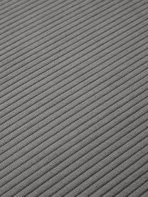 Chaise-longue componibile in velluto a coste grigio Lennon, Rivestimento: velluto a coste (92% poli, Struttura: legno di pino massiccio, , Piedini: plastica I piedini si tro, Velluto a coste grigio, Larg. 269 x Prof. 119 cm