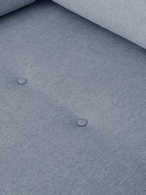 Ecksofa Saint (3-Sitzer) in Blaugrau mit Eichenholz-Füßen, Bezug: Polyester Der hochwertige, Gestell: Massives Kiefernholz, Spa, Webstoff Blaugrau, B 243 x T 220 cm