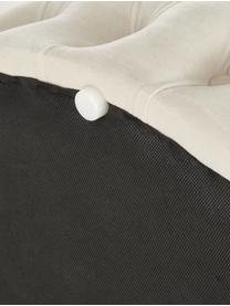 XL Samt-Hocker Chiara mit Stauraum, Bezug: Samt (Polyester) Der hoch, Korpus: Eukalyptusholz, Cremeweiß, Ø 70 x H 42 cm