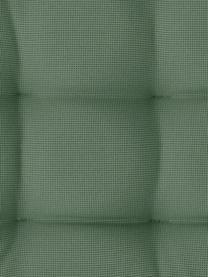 Zweifarbig gewebtes Outdoor-Sitzkissen St. Maxime, Dunkelgrün, Schwarz, 38 x 38 cm