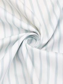 Baumwollsatin-Wendebettwäsche Garda mit Zitronen und Streifen auf der Rückseite, Webart: Satin Fadendichte 200 TC,, Blau,Gelb,Weiß, 135 x 200 cm + 1 Kissen 80 x 80 cm