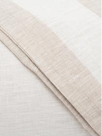 Parure copripiumino in lino Altana, Beige, crema, 250 x 260 cm + 2 federe 50 x 80 cm
