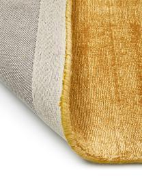 Handgewebter Viskoseteppich Jane in Senfgelb, Flor: 100% Viskose, Senfgelb, B 80 x L 150 cm (Größe XS)