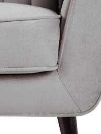 Canapé 3 places velours gris Weaver, Gris