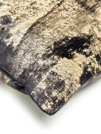 Poszewka na poduszkę z aksamitu Shiny, Grafitowoszary, S 40 x D 40 cm