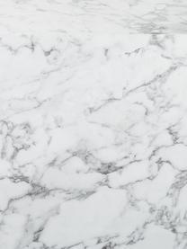 Stolik pomocniczy Lesley, Płyta pilśniowa średniej gęstości (MDF) pokryta łatwą w pielęgnacji folią melaminową imitującą marmur, Biały, marmurowy, S 45 x W 50 cm