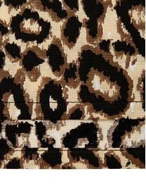 Completo copripiumino in cotone Leopard, Cotone, Marrone, beige, 200 x 255 cm