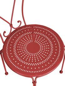 Gartenstuhl Century aus Metall, Metall, pulverbeschichtet, wetterfest und unempfindlich Gummistutzen an den Füßen für rutschfesten Halt und zusätzlichen Kratzerschutz bei empfindlichen Böden, Rot, B 41 x T 49 cm