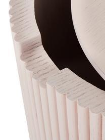 Beistelltisch Nele mit Stauraum, Mitteldichte Holzfaserplatte (MDF) mit Eschenholzfurnier, Rosa, ∅ 40 x H 51 cm