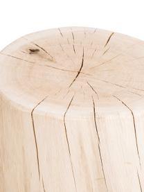 Sgabello in legno di quercia massiccio Block, Legno di quercia, massiccio, Legno di quercia, Ø 29 x Alt. 38 cm