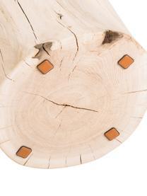 Hocker Block aus massivem Eichenholz, Eichenholz, massiv, Eiche, Ø 29 x H 38 cm