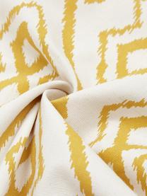 Boho-Kissenhülle Delilah in Cremeweiß/Gelb, 100% Baumwolle, Weiß, Gelb, 45 x 45 cm