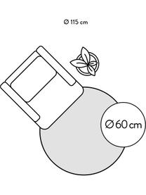 Runder Viskoseteppich Jane in Silbergrau, handgewebt, Flor: 100% Viskose, Silbergrau, Ø 250 cm (Größe XL)