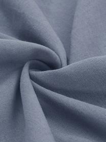 Gewaschene Leinen-Bettwäsche Nature in Blau, Halbleinen (52% Leinen, 48% Baumwolle)  Fadendichte 108 TC, Standard Qualität  Halbleinen hat von Natur aus einen kernigen Griff und einen natürlichen Knitterlook, der durch den Stonewash-Effekt verstärkt wird. Es absorbiert bis zu 35% Luftfeuchtigkeit, trocknet sehr schnell und wirkt in Sommernächten angenehm kühlend. Die hohe Reißfestigkeit macht Halbleinen scheuerfest und strapazierfähig., Blau, 135 x 200 cm + 1 Kissen 80 x 80 cm