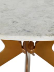 Table ronde en marbre Safia, Plateau: marbre blanc-gris Structure: couleur dorée, mat