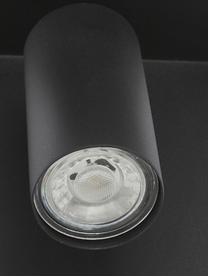 Wandspot Chandler met oplaadfunctie en stekker, Lampenkap: gepoedercoat metaal, Zwart, 19 x 21 cm