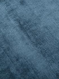 Handgewebter Viskoseteppich Jane in Petrol, Flor: 100% Viskose, Petrol, B 160 x L 230 cm (Größe M)