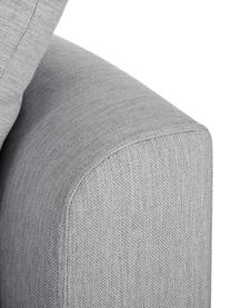 Grand canapé d'angle gris Zach, Tissu gris