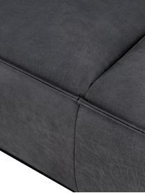 Leder-Sofa Abigail (3-Sitzer) in Dunkelgrau mit Metall-Füßen, Bezug: Lederfaserstoff (70% Lede, Beine: Stahl, lackiert, Leder Dunkelgrau, B 230 x T 95 cm