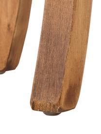 Sgabello in velluto con schienale Alison, Rivestimento: velluto di cotone, Struttura: legno, Piedini: legno di betulla, vernici, Rivestimento: Rose. Gambe: scuro legno, Larg. 48 x Alt. 65 cm
