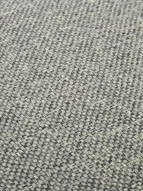 Voetenbank Cucita met opbergruimte, Bekleding: geweven stof (polyester), Frame: massief grenenhout, Poten: gelakt metaal, Lichtgrijs, 85 x 42 cm