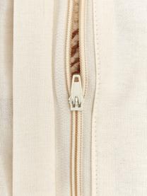 Housse de coussin 45x45 peluche Karina, Blanc, brun