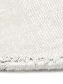 Okrągły ręcznie tkany dywan z wiskozy Jane, Odcienie kości słoniowej, Ø 150 cm (Rozmiar M)