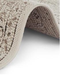 In- & outdoor vloerkleed Navarino met vintage patroon, 100% polypropyleen, Crèmewit, taupe, B 200 x L 290 cm (maat L)